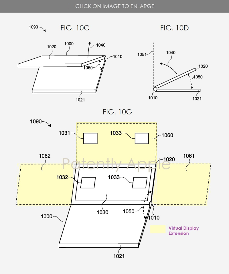 2 physical keyboard with virtual extention of display's height or width