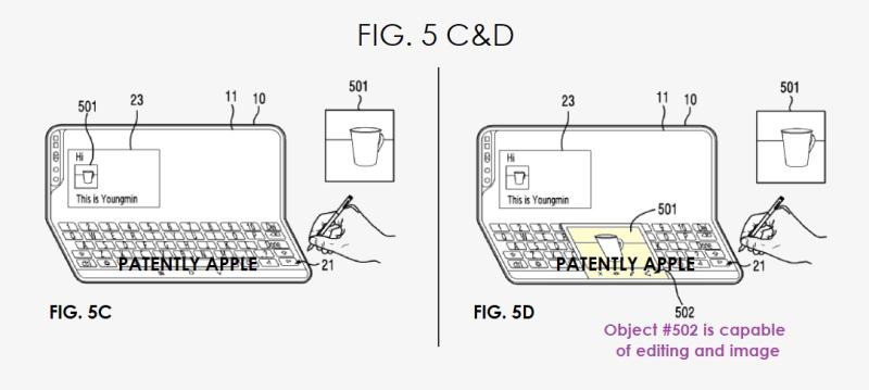 3 samsung galaxy fold smartphone patent figs 5c d