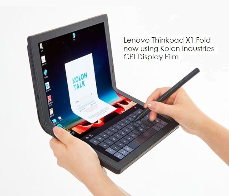 4 x Lenovo's foldable device  with Kolon technology