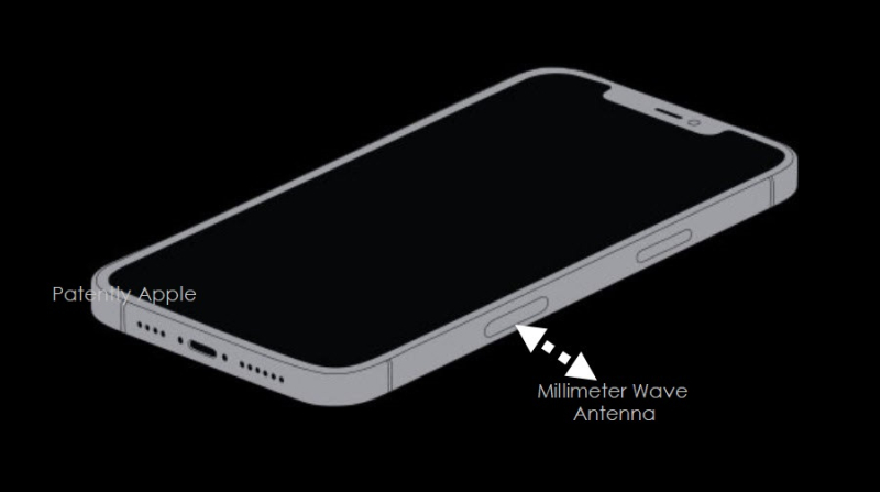 1 x cover iPhone with millimeter wave antenna