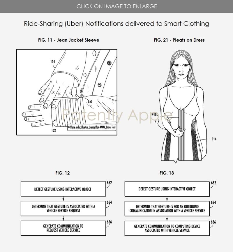 3 smart garments working with ride sharing app