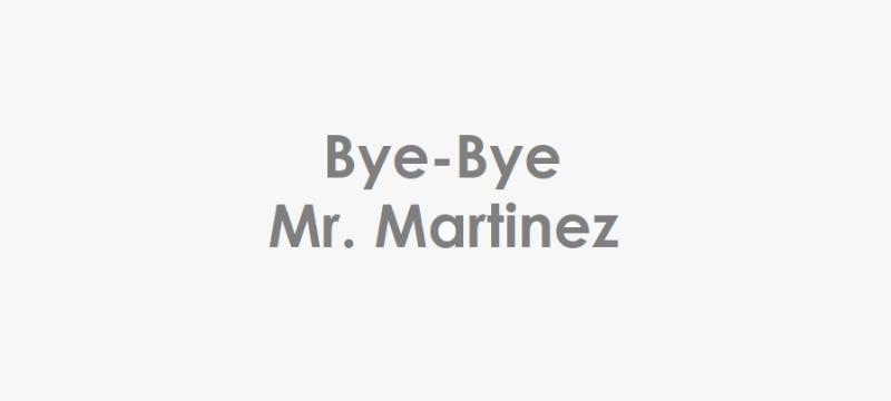 1 x Cover - Bye-Bye Mr. Martinez