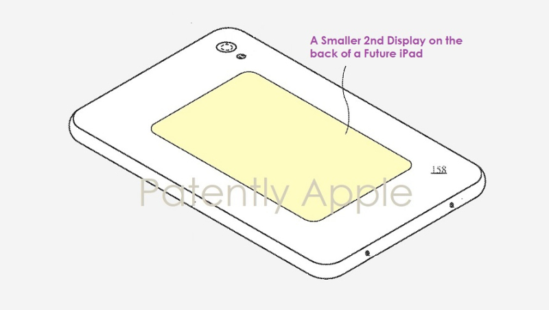 1 cover - iPad with smaller backside display patent