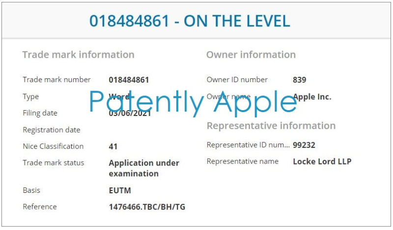 2 Apple TM for - On the Level