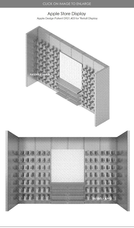 3 Apple Retail Display granted design patent