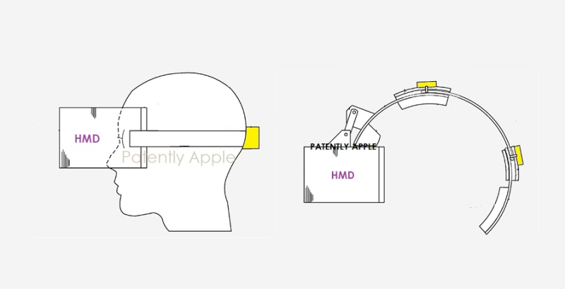1 cover Apple HMD adjustable mechanism for head fit