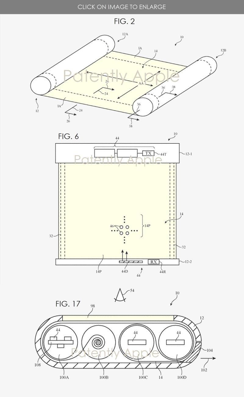 2 scrollable phone internal mechanisms