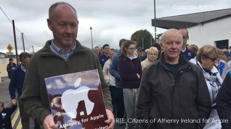 1 cover Ireland folk march in support of Apple development in late 2018