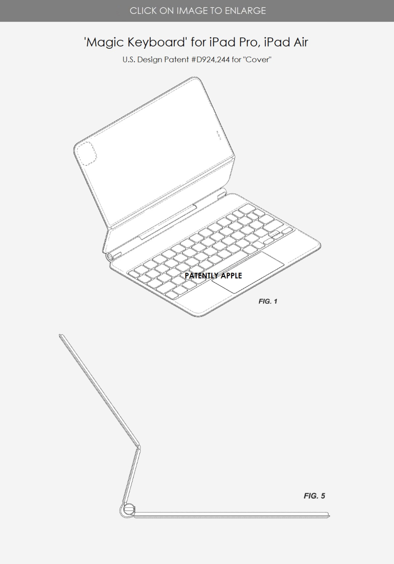 2 Apple Design Patent for a Display Stand