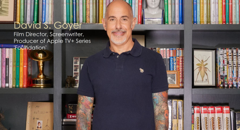 2x cover David S. Goyer - the man behind the Apple TV+ series 'Foundation'