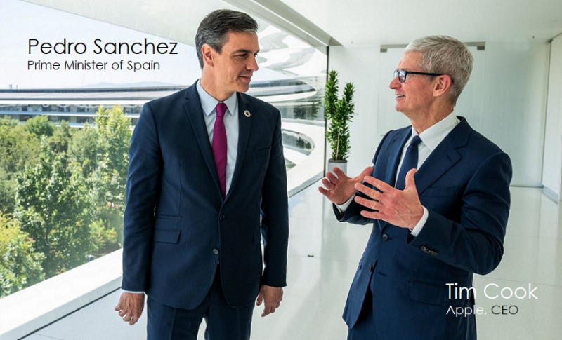 1 x cover Cook and PM Spain  Sanchez
