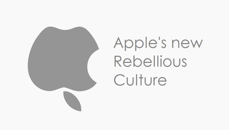 1 x cover Apple's new rebellious cultrure