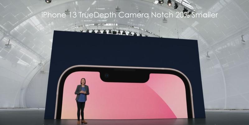 2 Apple iPhone 13  Notch 20% smaller