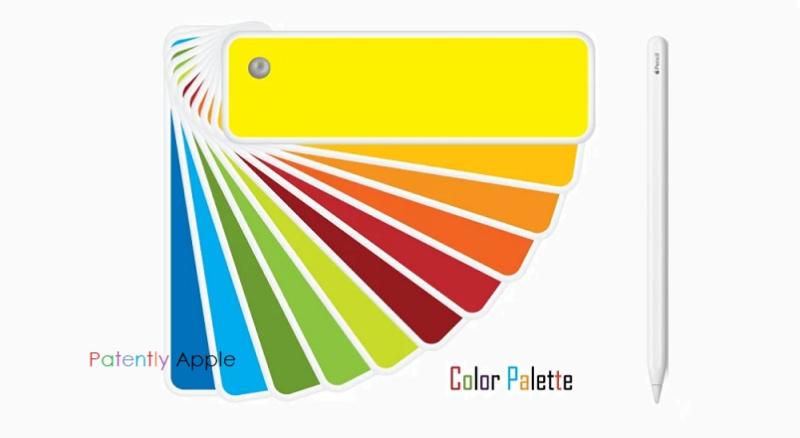 5 color  apple pencil patent