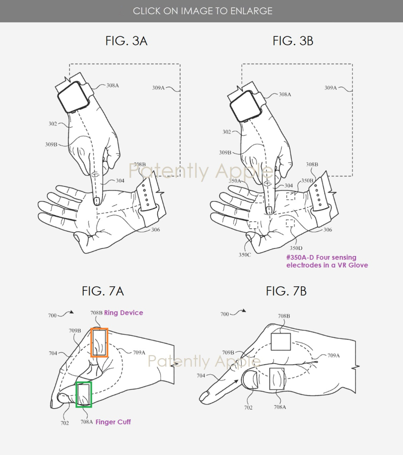 3 Apple patent figs  Apple Watch  Skin to Skin contacts