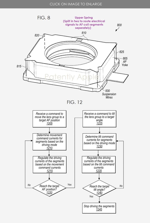 6 Apple VCM patents fig.  8 & 12