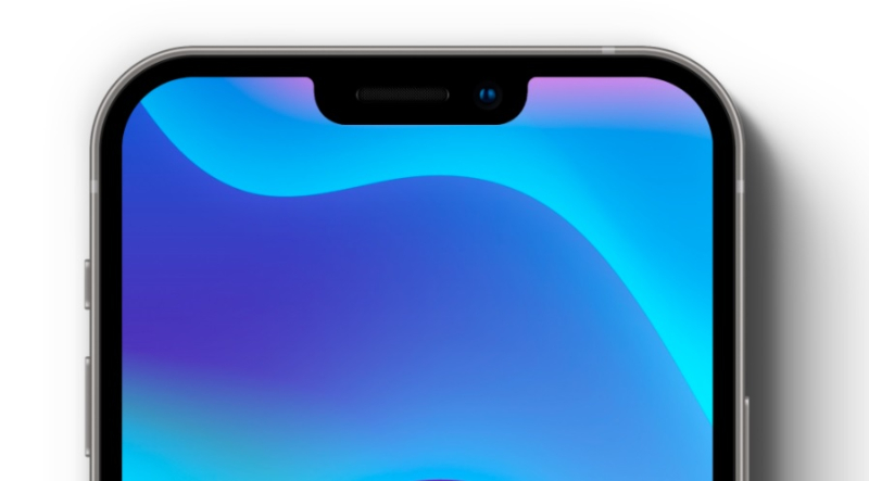 1 cover - iPhone 13 notch 20 percent smaller