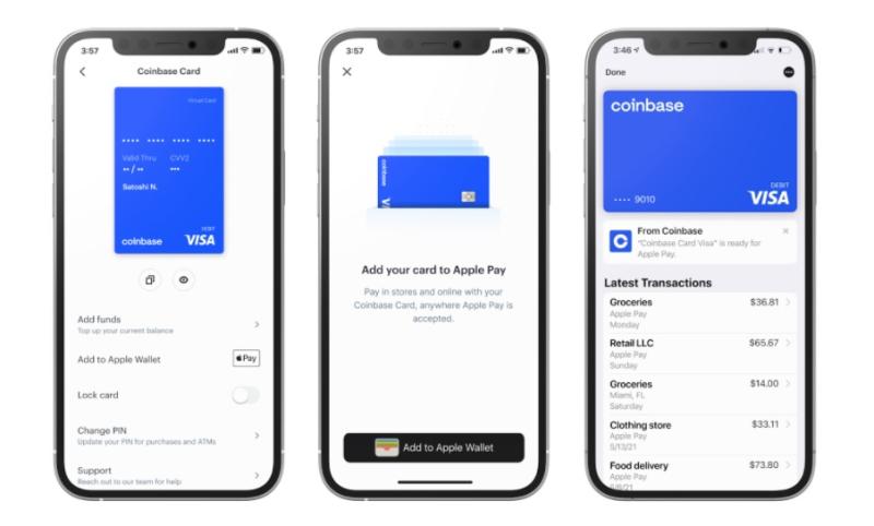1 x Cover -- Coinbase Card + Apple Pay