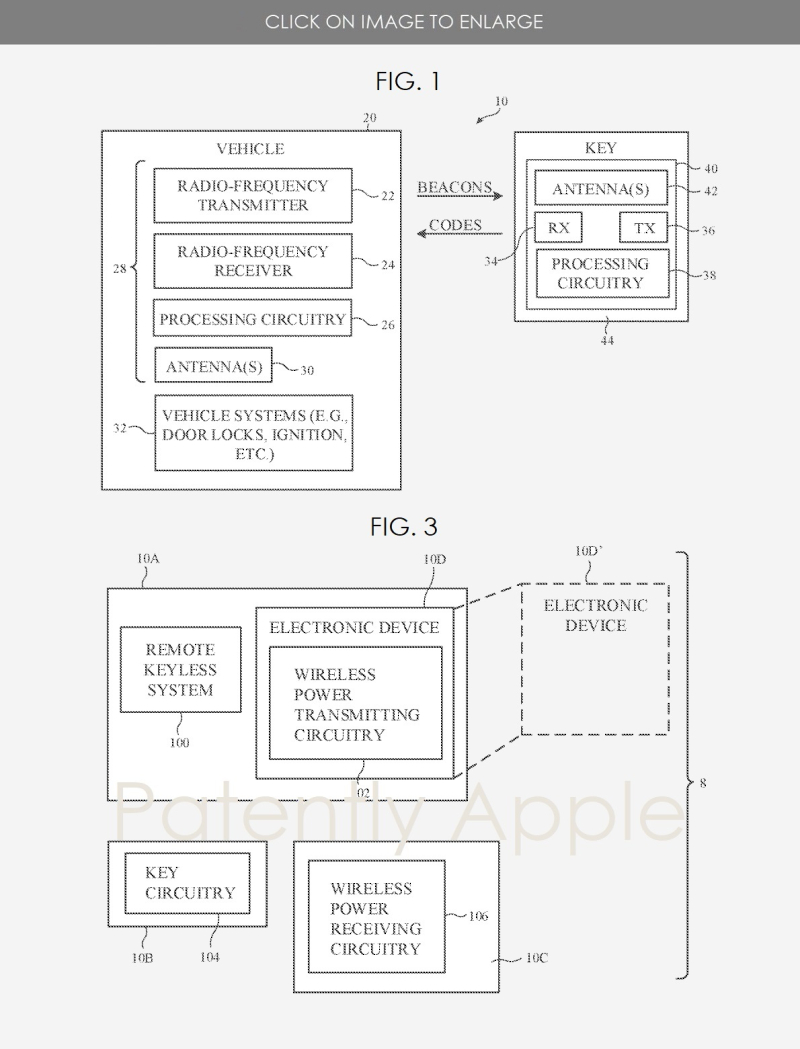 2 apple patent figs 1 and 3 for CarKeys