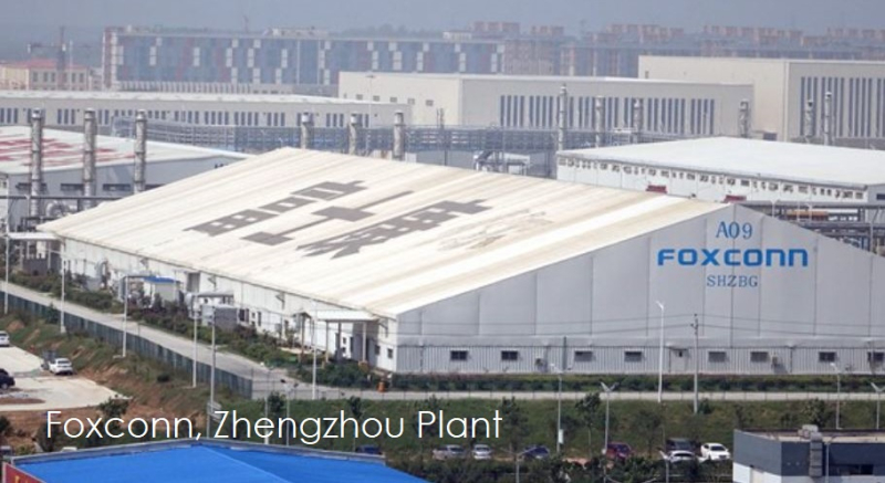 1 cover foxconn factory in Henan province