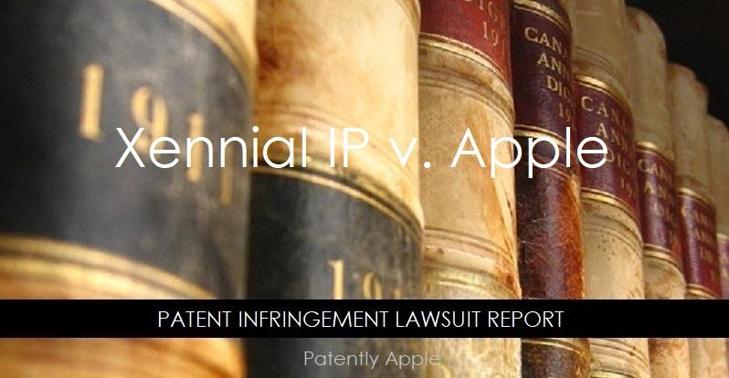 1  cover  Patent Infringement - Xennial IP v Apple