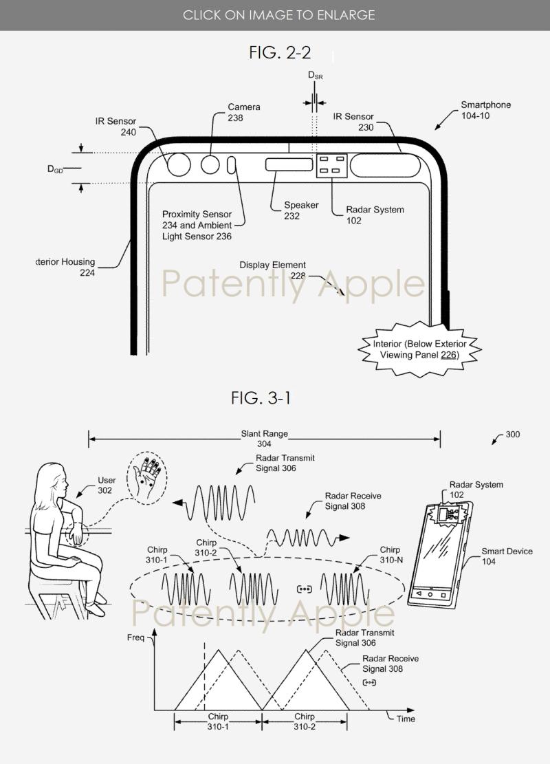 4 Google Patent for phone radar system