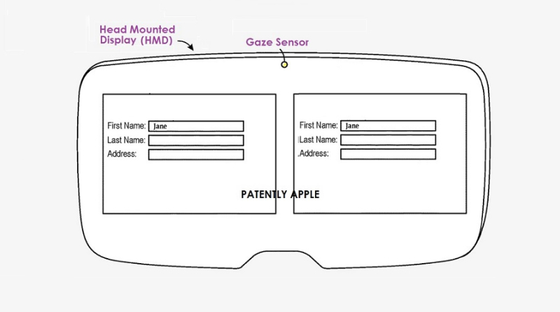 1 cover Apple Patent gaze controls on an HMD FOR TEXT INPUT