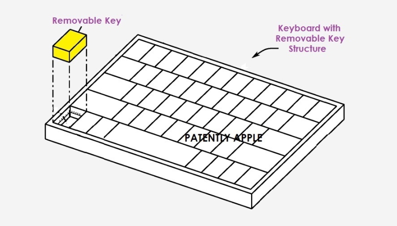 1 cover - removable key acting as a mobile mouse  pointing stick or joystick