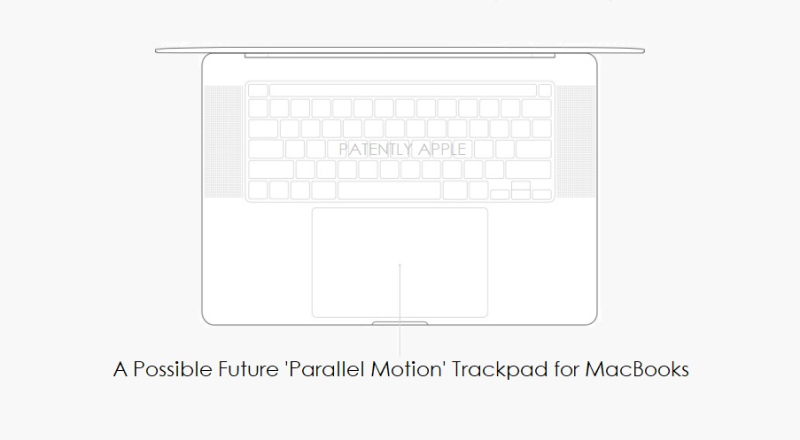 1 COVER MACBOOK WITH PARALLEL MOTION TRACKPAD