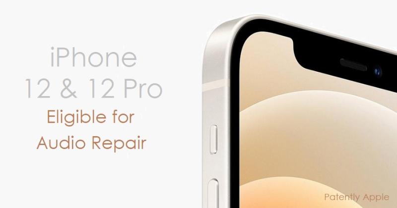 1 cover iPhone 12  audio repair announcement report