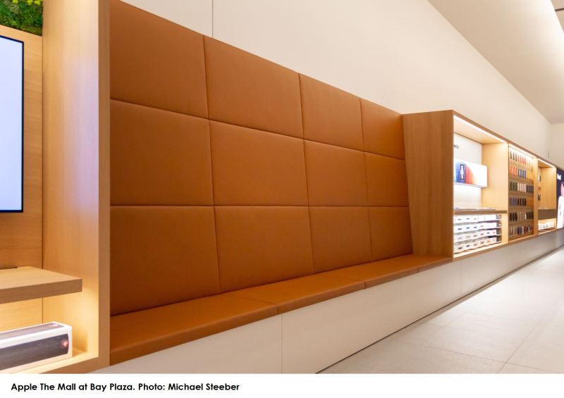 2x Bronx Apple Store - new in-store seating area