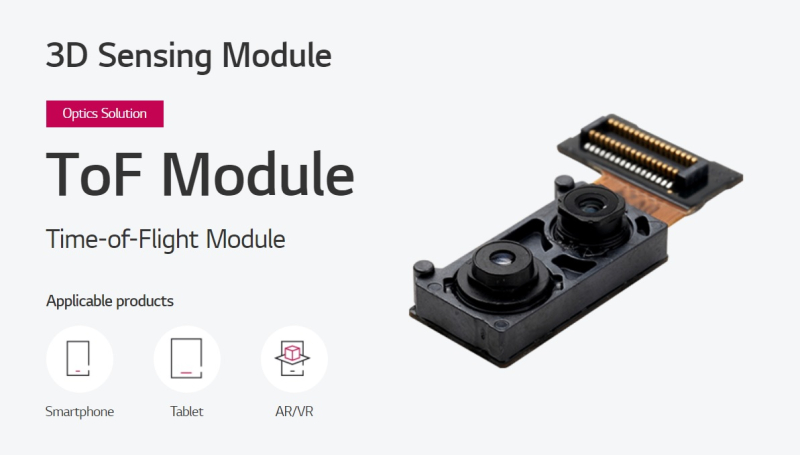 2 ToF MODULE LG Innotk for Apple VR headset